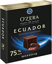 «OZera», шоколад Ecuador, содержание какао 75%, 90г