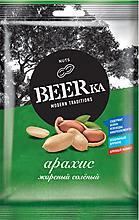 «Beerka», арахис жареный, солёный, 30г