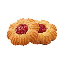Печенье «Курабье с вишнёвым джемом», сдобное (коробка 4кг)