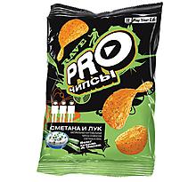 «PRO-Чипсы», чипсы со вкусом сметаны и лука, произведены из свежего картофеля, 60г