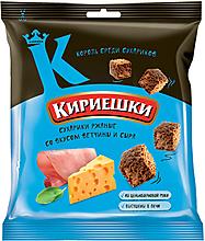 «Кириешки», сухарики со вкусом ветчины и сыра, 40г