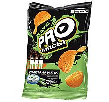 «PRO-Чипсы», чипсы со вкусом сметаны и лука, произведены из свежего картофеля, 150г
