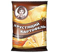 «Хрустящий картофель», чипсы со вкусом сыра, произведены из свежего картофеля, 70г