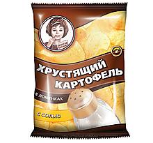 «Хрустящий картофель», чипсы с солью, произведены из свежего картофеля, 40г