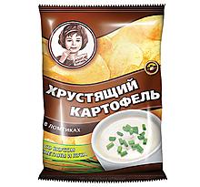 «Хрустящий картофель», чипсы со вкусом сметаны и лука, произведены из свежего картофеля, 40г