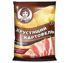 «Хрустящий картофель», чипсы со вкусом бекона, произведены из свежего картофеля, 40г
