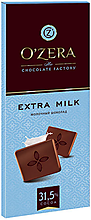 «OZera», шоколад молочный Extra milk, 90г