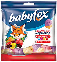 «BabyFox», мармелад воздушный, с соком ягод и фруктов, 100г