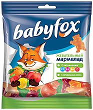 «BabyFox», мармелад жевательный с соком ягод и фруктов, 70г