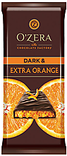 «OZera», шоколад горький Dark & Extra Orange, 90 г