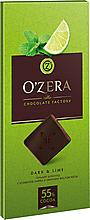 «OZera», шоколад горький с экстрактами лайма и мяты Dark & Lime, 100г