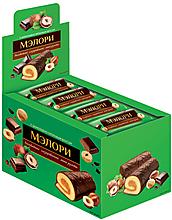 «Мэлори», мини-рулет бисквитный шоколадно-ореховый, 40г