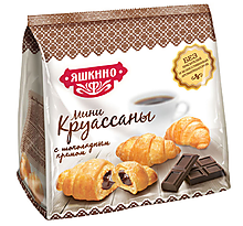 «Яшкино», мини-круассаны с шоколадным кремом, 180г