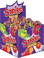 Карамель на палочке Strike с жевательной конфетой, 11г