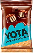 «Yota», вафля в молочно-шоколадной глазури, 150г