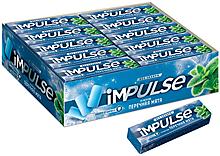 «Impulse», жевательная резинка со вкусом «Перечная мята», без сахара, 14г