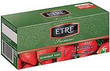 «ETRE», чай зеленый с клубникой, 25 пакетиков, 50г