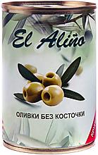 «EL alino», оливки крупные без косточки, 270г