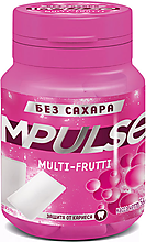 «Impulse», жевательная резинка Multi-Frutti, 56г