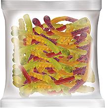Мармелад жевательный со вкусом вишни и маракуйи, колы и лайма, черной смородины и апельсина, 70г