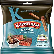 «Кириешки», сухарики со вкусом стейка и соусом барбекю, 85г