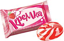 Карамель «Кремка» со вкусом клубники и сливок (упаковка 1кг)