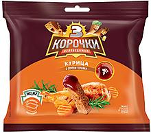 «3 Корочки», сухарики со вкусом курицы и соусом терияки, 85г