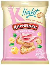 Сухарики со вкусом ветчины с сыром «Кириешки Light», 33г
