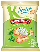 Сухарики со вкусом сметаны и зелени «Кириешки Light», 80г