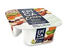 Йогурт 10.5% «Epica» Crispy с фисташками и смесью из семян подсолнечника, орехов и темного шоколада, 140г