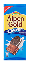 Шоколад «Alpen Gold» молочный с печеньем Oreo, 95г