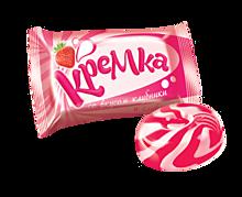 Карамель Кремка со вкусом клубники и сливок