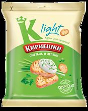 Сухарики «Кириешки Light» со вкусом сметаны и зелени, 33г