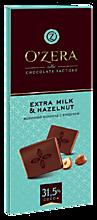 Шоколад молочный «O'Zera» Extra milk & Hazelnut, 90г