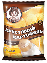 Чипсы «Хрустящий картофель» с солью, 160г