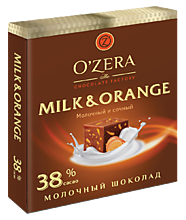 Шоколад молочный «OZera» Milk & Orange, 90 г