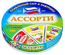 Сыр плавленый 40% «Переяславль» ассорти, 140г