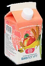 Биойогурт питьевой 2.5% «Деревенское молочко» Яблоко-банан-злаки, 450г