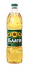 Масло подсолнечное «Благо» рафинированное и дезодорированное, 1л