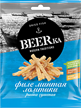 Рыбка сушеная «Beerka» ломтики филе минтая, 25г