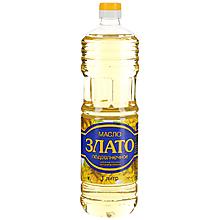 Масло подсолнечное «Злато» рафинированное дезодорированное, 1л