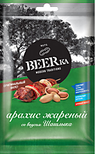 Арахис «Beerka» жареный, со вкусом шашлыка, 90г