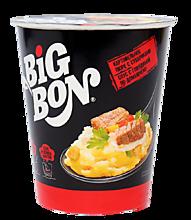 Пюре картофельное «BigBon» с сухариками и соусом со вкусом говядины, 60г
