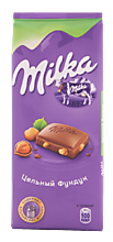 Шоколад «Milka» молочный с фундуком, 90г
