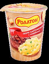 Пюре картофельное «Роллтон» с говядиной, 55г