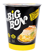 Пюре картофельное с сухариками и соусом «BigBon» со вкусом жареной курицы, 60г