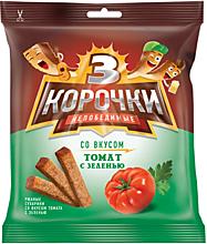 Сухарики «3 Корочки» со вкусом томата и зелени, 40г