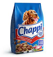 Сухой корм для собак «Chappi» «Сытный мясной обед», Говядина по-домашнему с овощами и травами, 600г