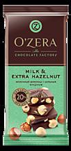 Шоколад «OZera» Milk & Extra Hazelnut, 90г