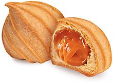 Печенье «Заварные пышечки» с варёной сгущёнкой, заварное (коробка 2кг)